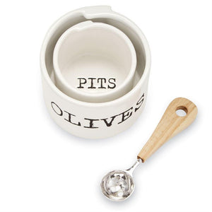 Olive and Pit Bowls with Spoon- TEMPORARILY SOLD OUT Entertaining Tabula Rasa Essentials