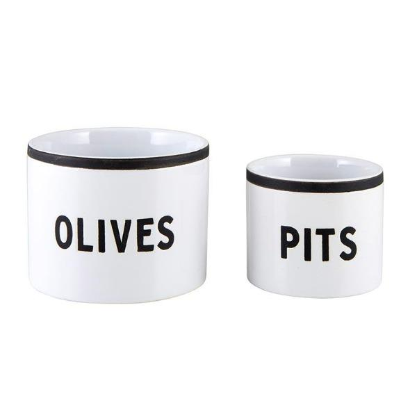 Olive and Pits Bowls Entertaining Tabula Rasa Essentials