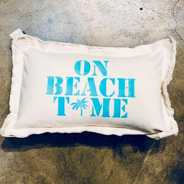 On Beach Time Palm Baby Rectangle Pillow Pillow Tabula Rasa Essentials Oasis