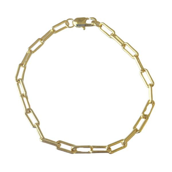 Paper Clip Gold-Filled Chain Bracelet bracelet SHE By Design, LA