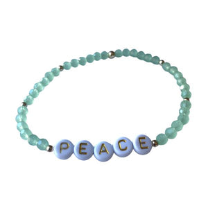 Peace Crystal Bead Bracelet Bracelet SHE By Design, LA