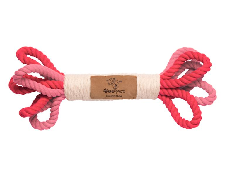 Pink Loop Rope Toy Pets Tabula Rasa Essentials