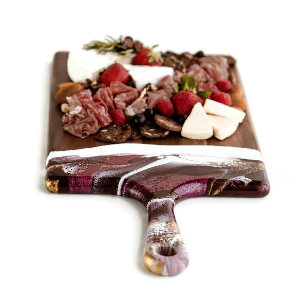 Raspberry Acacia Resin Large Cheeseboard Cheeseboard Tabula Rasa Essentials