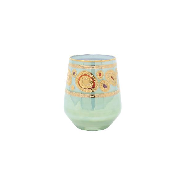Regalia Aqua Stemless Wine Glass Glassware Vietri