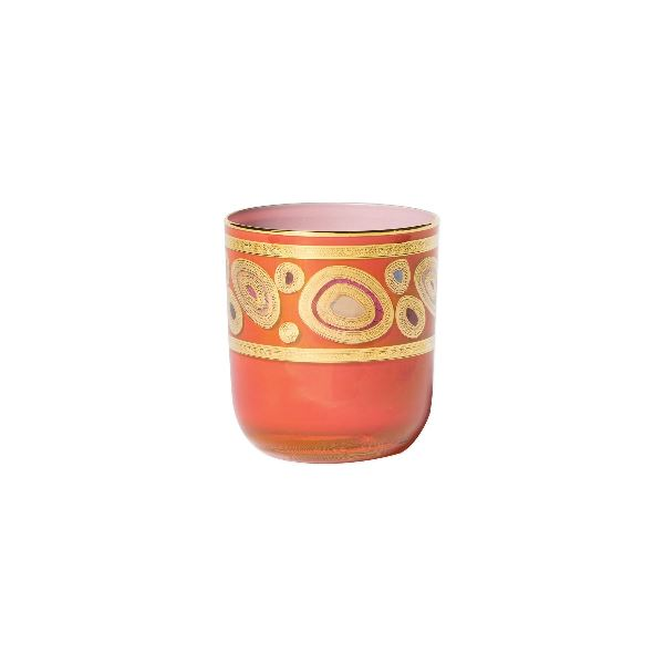 Regalia Orange Dbl Old Fashion Glassware Vietri