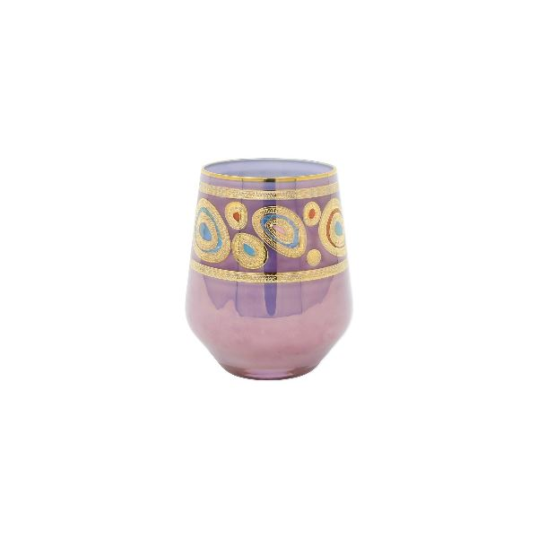 Regalia Purple Stemless Wine Glass Glassware Vietri