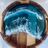 Resin Trim Round Serving Tray - MADE TO ORDER. CALL FOR AVAILABILITY Cheeseboard Tabula Rasa Essentials