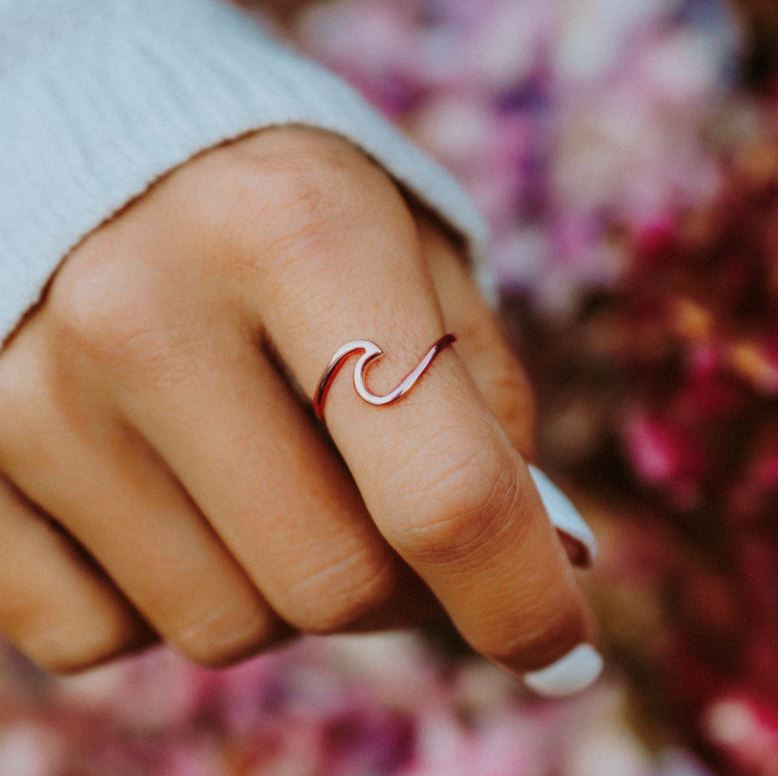 Rose Gold Wave Ring Jewelry Puravida