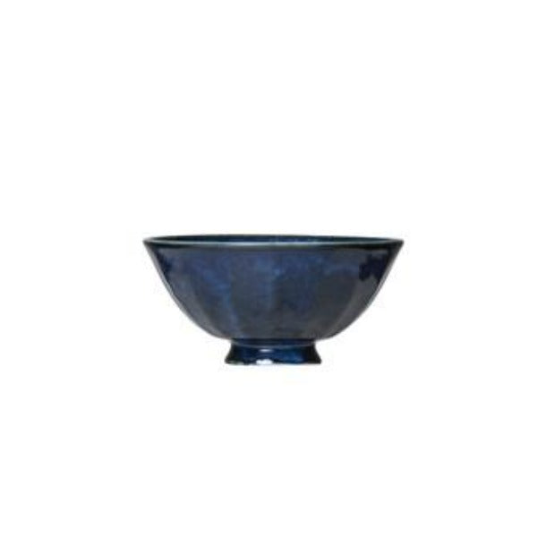Round Blue Porcelain Bowl bowl Creative Co-Op