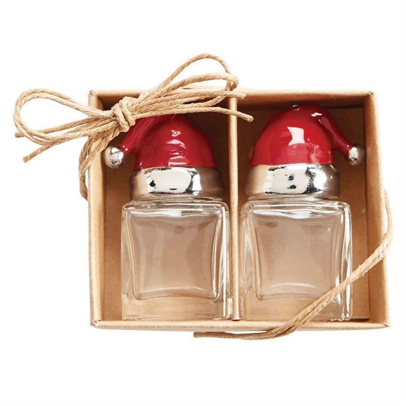 Santa Hat Salt Pepper Set - HOLIDAY Serveware Primitive Artisan
