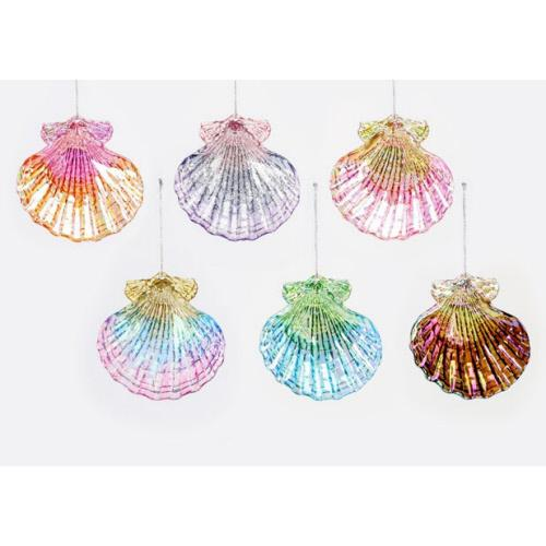 Shell Acrylic Ornament Assorted Holiday Ornament Tabula Rasa Essentials