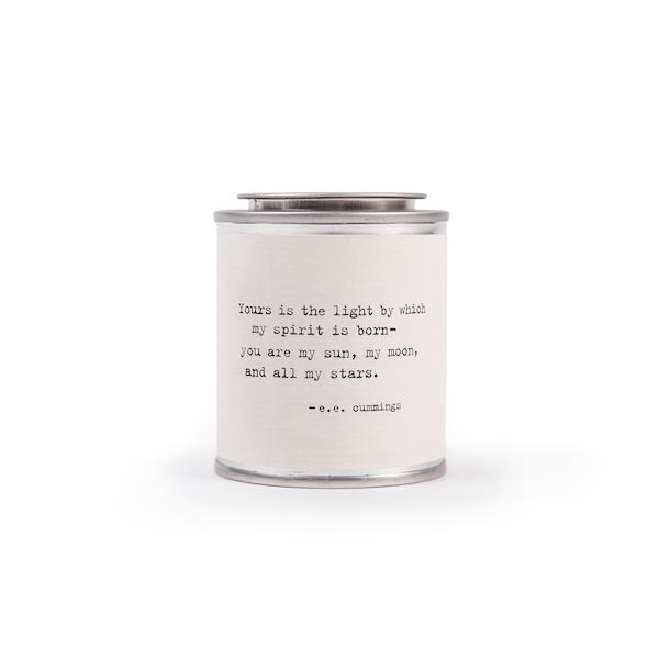 Shine Candle Candles Tabula Rasa Essentials Your's is the Light