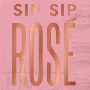 Sip Sip Rose Cocktail Napkin Cocktail Napkins TABULA RASA ESSENTIALS