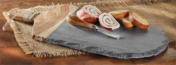 Slate and Wood Board Set Cheeseboard Tabula Rasa Essentials