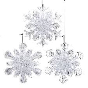 "Snowflake 4.5"" Plastic Ornament Holiday Ornament Tabula Rasa Essentials"
