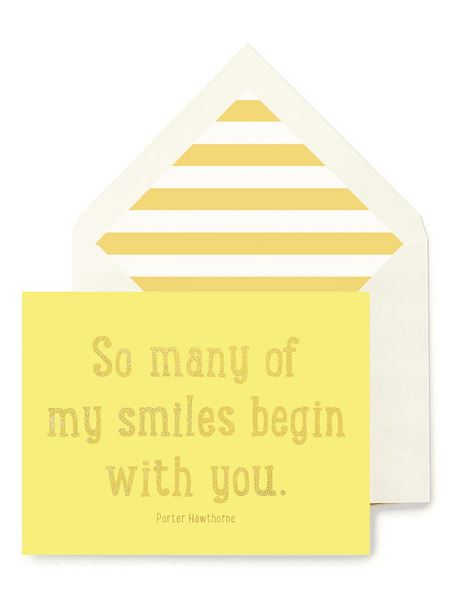 So Many of my Smiles Greeting Card Greeting Cards Tabula Rasa Essentials