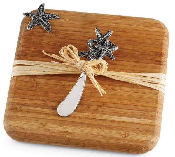 Starfish Bamboo Cutting Board Cheeseboard Mud Pie