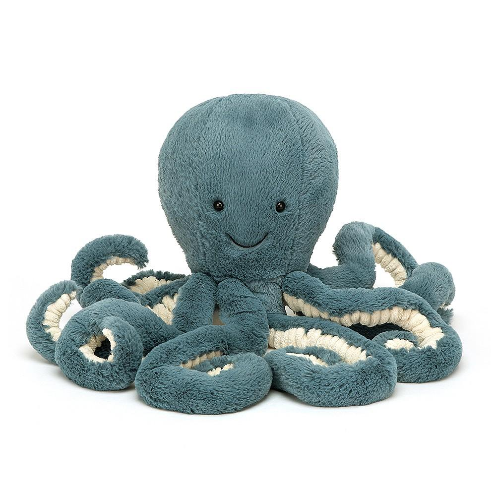 "Storm Octopus Plush Toy Jellycat Storm Octopus Small 9"" Plush"