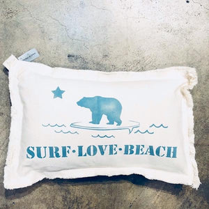 Surf Love Baby Rectangle Pillow Pillow Tabula Rasa Essentials Aegean