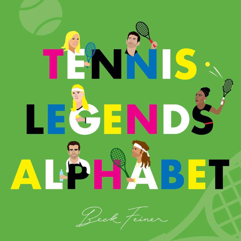 Tennis Legends Alphabet Book Kids Books Tabula Rasa Essentials