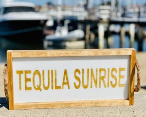 Tequila Sunrise Natural Long Tray Serving Tray Tabula Rasa Essentials