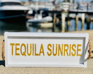 Tequila Sunrise White Long Tray Serving Tray Tabula Rasa Essentials
