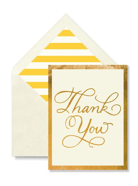 Thank You Script Greeting Card Greeting Cards Tabula Rasa Essentials