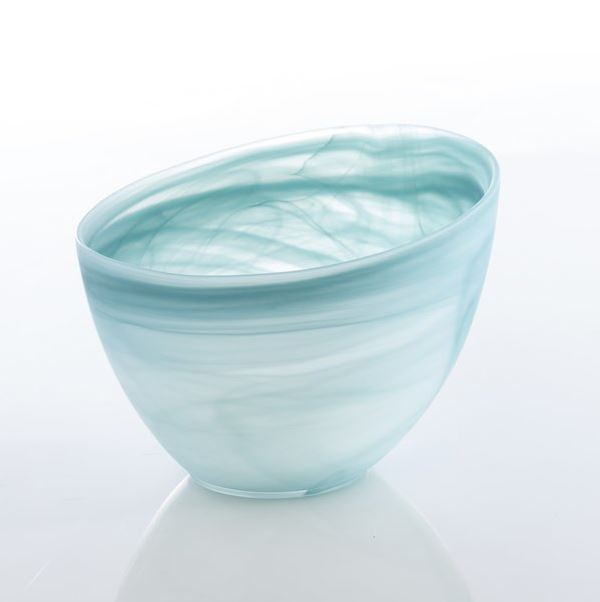 Turquoise Alabaster Slanted M Bowl Entertaining Tabula Rasa Essentials