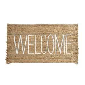 Welcome Jute Mat Door Mat Tabula Rasa Essentials