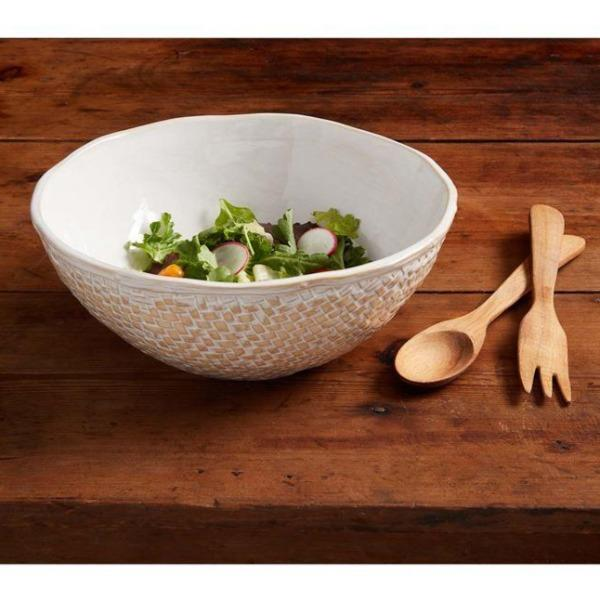 White Basket Weave Bowl Serveware Tabula Rasa Essentials