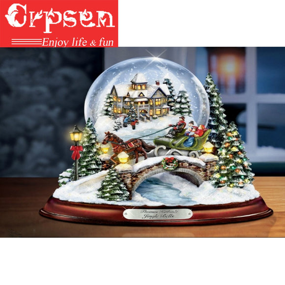 Christmas Snow Globe Diamond Painting Kit