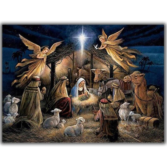 Religious Nativity Diamond Painting Kit