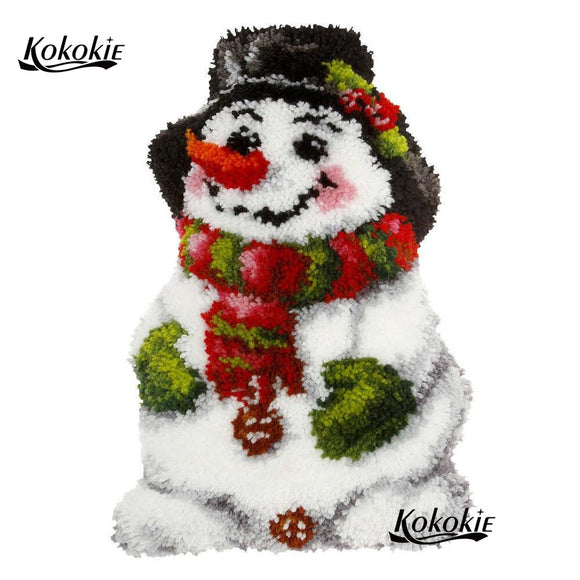 Christmas Snowman Latch Hook Kit