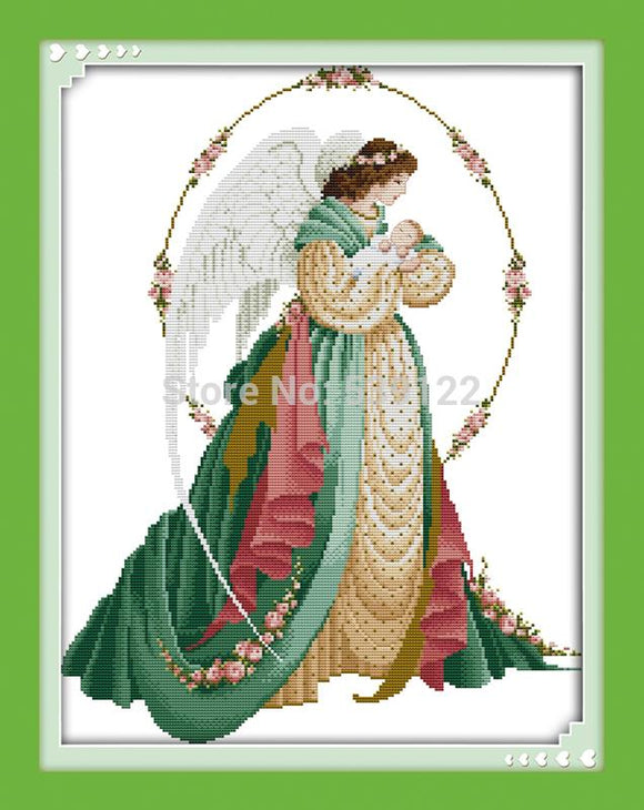 Angel Mother and Son Cross Stitch Kit