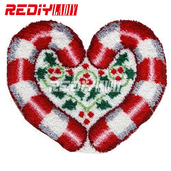 Candy Cane Heart Latch Hook Kit