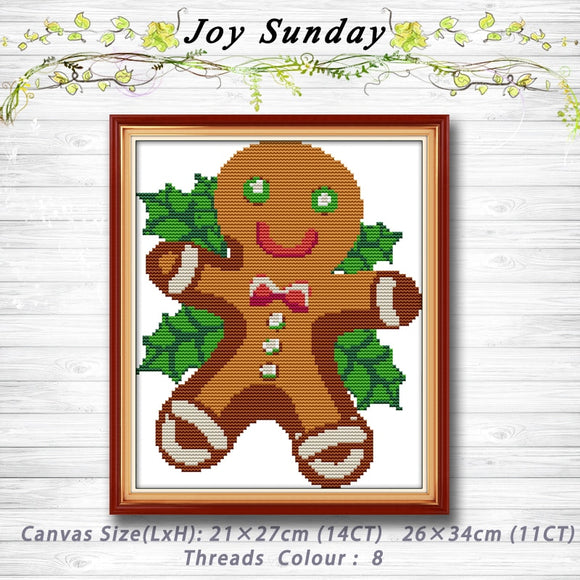Gingerbread Cookie Cross Stitch Kit