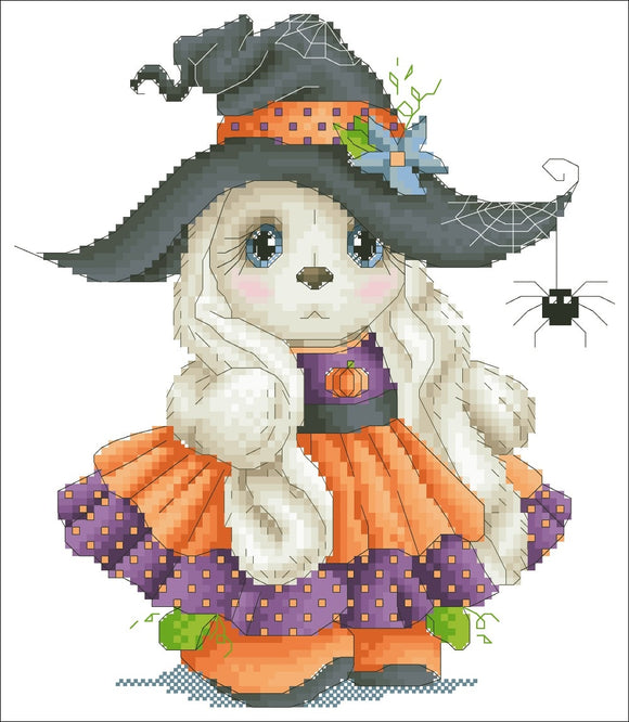 Halloween Rabbit Cross Stitch Kit