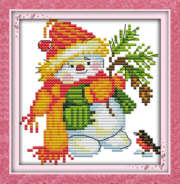Christmas Snowman Cross Stitch Kit