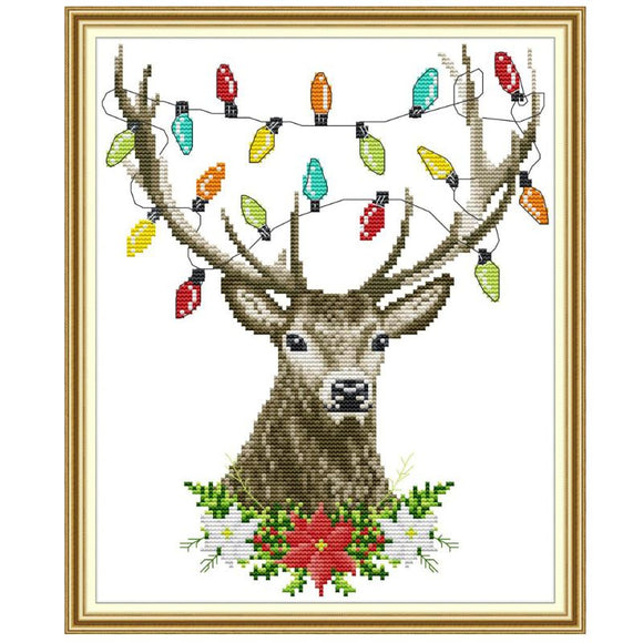 Christmas Antlers Cross Stitch Kit
