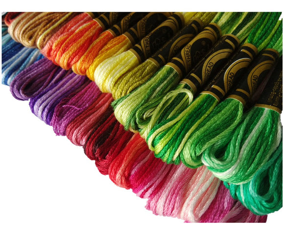 Similar DMC Colors of Variegated Cotton Floss/Thread