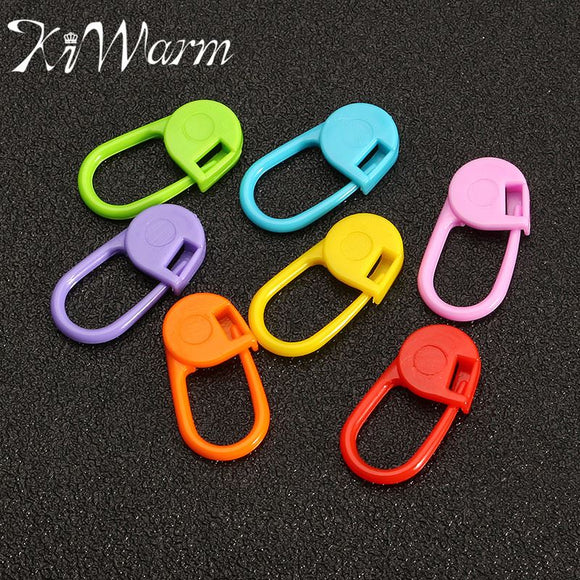 KiWarm 30Pcs Small Colored Plastic Pins/Needle Clip For Knitting/Crochet/Weaving Projects
