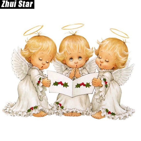 Three Christmas Angels Diamond Painting Kit