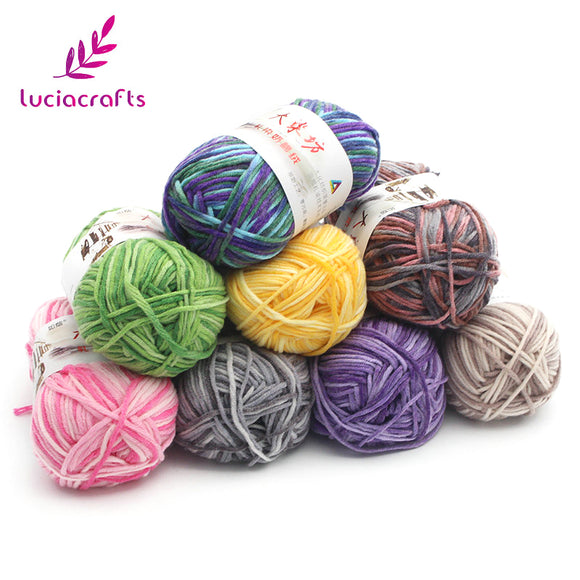 Lucia Crafts Cotton Blend Yarn for Knitting/Crochet Projects  #033005035