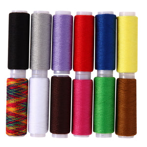 12Pc/lot Mixed Colors Polyester Embroidery/Sewing Thread