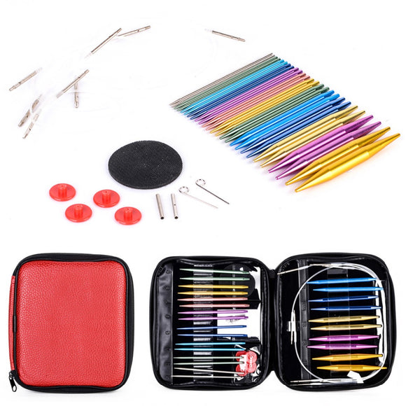 Interchangeable Aluminium Circular Knitting Needle Set