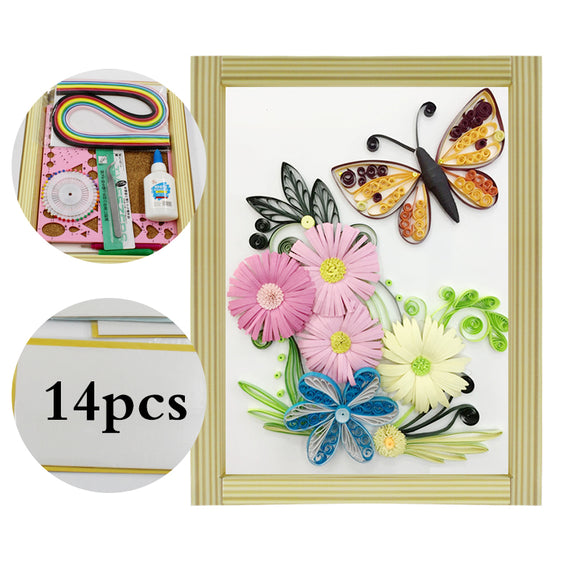 Beautiful Butterfly and Flower Paper Quilling Kit