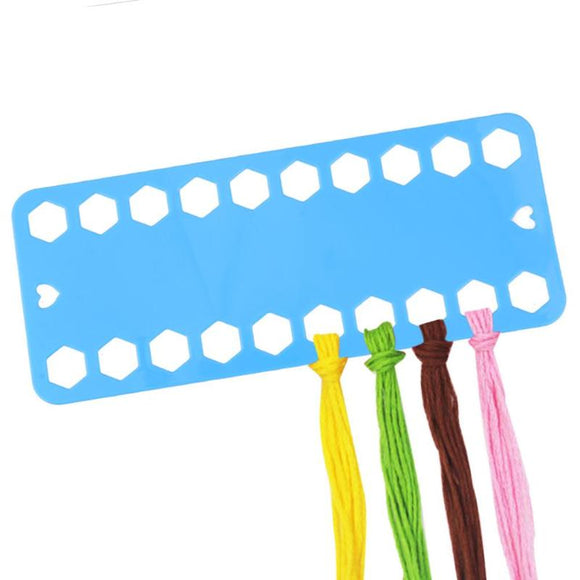 5Pcs Plastic Cross Stitch Row Line Board 20 Positions for Embroidery Thread & Yarn