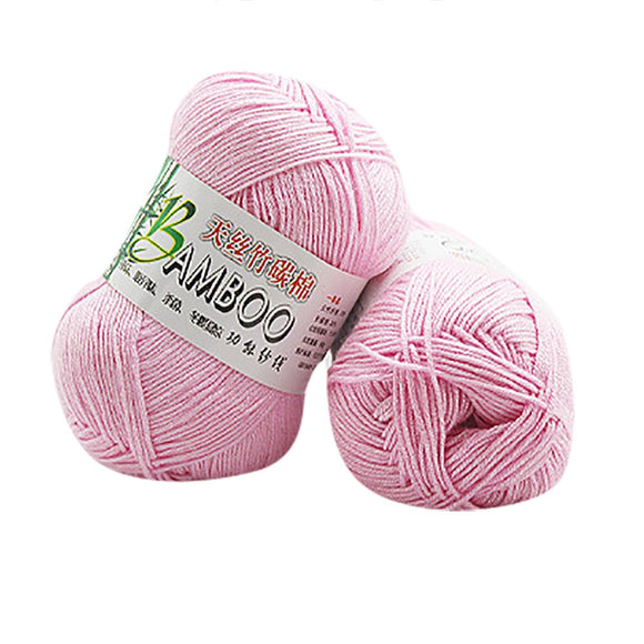 100% Bamboo Cotton Carded Yarn Warm Soft Natural Knitting/Crochet 50g skein u70908