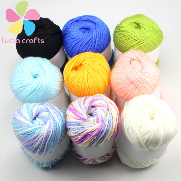 50g Ball Soft Warm Cotton Blended Yarn for Crochet/Knitting Projects 9 colors