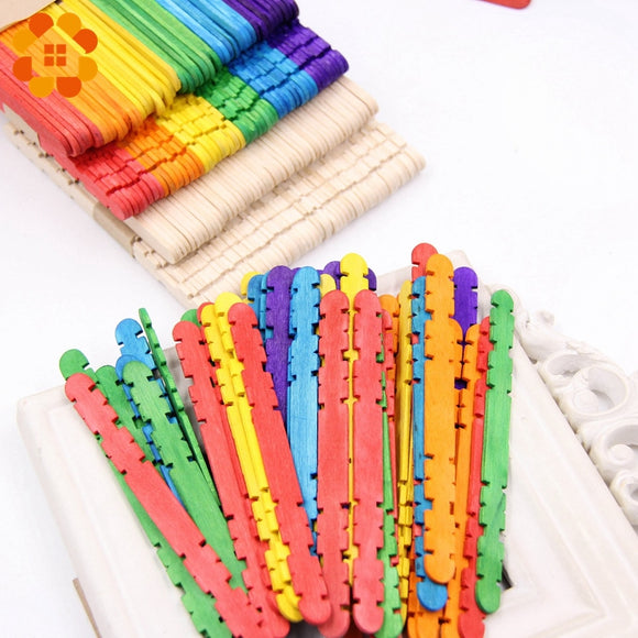 Colorful Notched Wooden Sticks